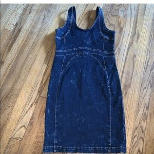 Sexy fitted denim dress